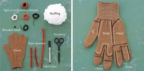 Membuat Boneka Kecil Dari Sarung Tangan Bekas  a625eecd27